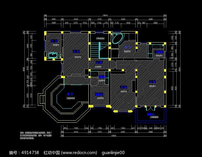 别墅装修一层地面设定图cad铺装怎么坐标系图片
