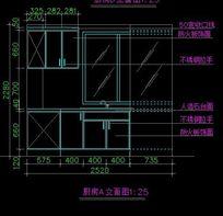 厨房柜子立面设计图纸