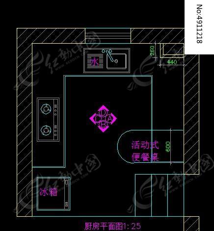 图纸平面设计地漏_CAD厨房图片素材图纸图纸防爆图片