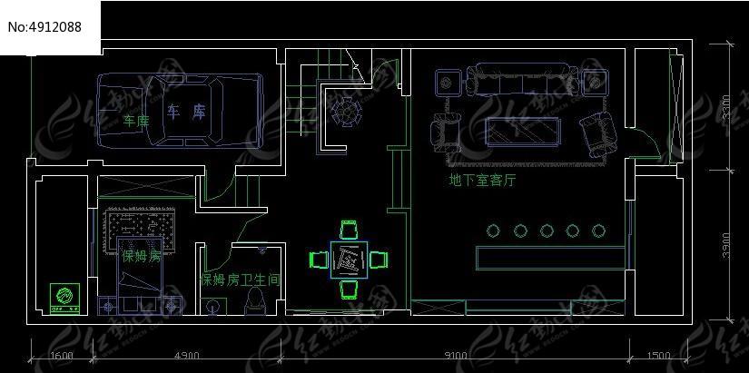 地下室平面布置 图纸 CAD 图纸 地下室 平面 布置图纸 CAD图纸图片素图片
