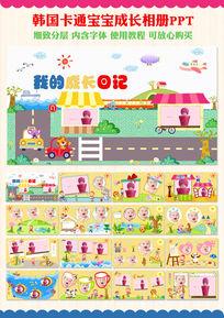 儿童电子相册生日百日宴成长档案ppt模板