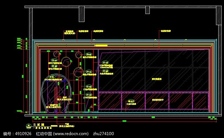 工装会所造型施工图纸