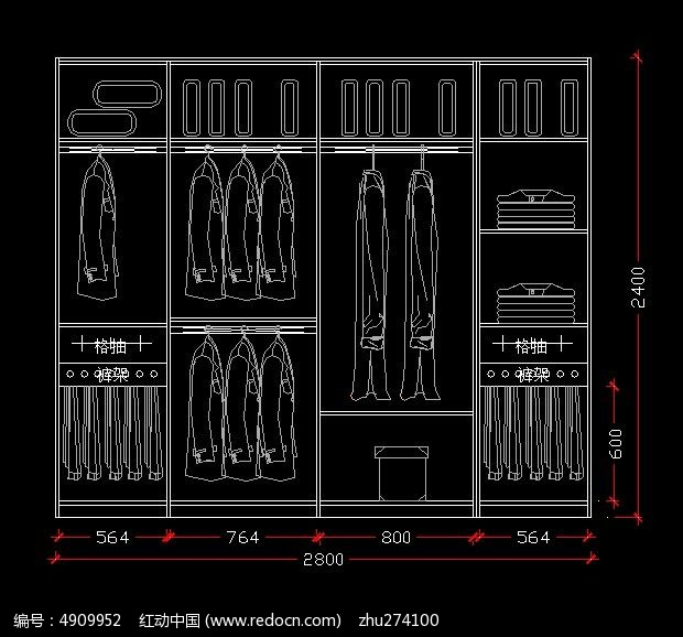 规划合理的图纸设计衣柜cad转加长图纸怎么的pdf图片
