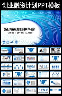 框架完整的创业计划书商业融资计划书PPT