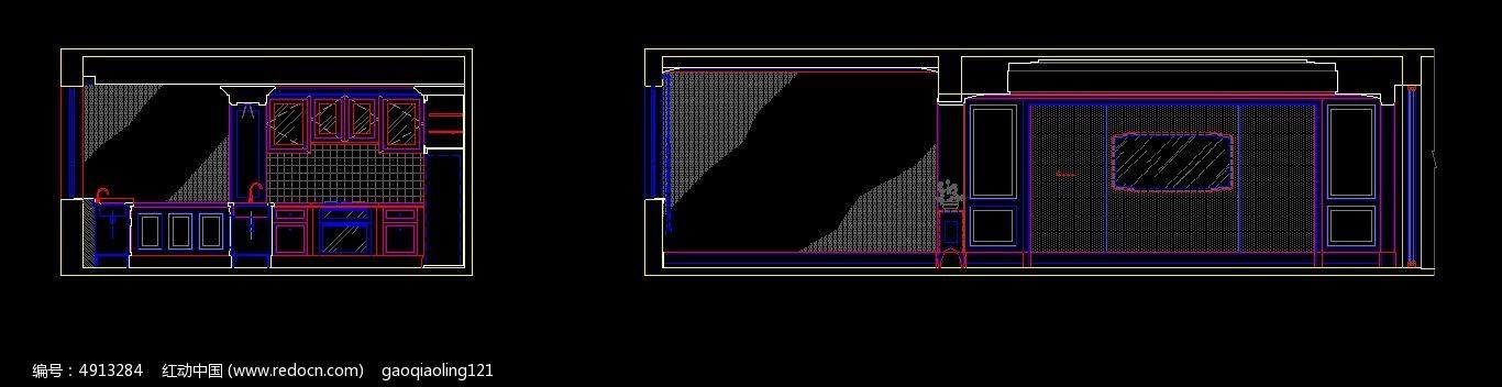欧式橱柜立面图