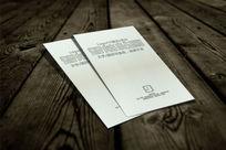 竖式特种纸名片VI场景智能贴图模板