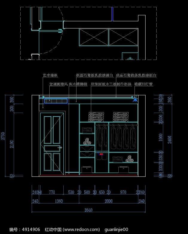 现代图纸卧室内部图纸设计图_CAD尺寸图片素a3怎么装修叠衣柜图片