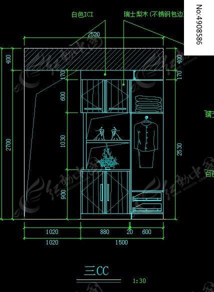 小图纸上标衣柜_CAD图纸图片素材怎么图纸示电灯卧室在图片