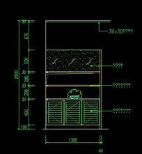 鞋柜施工设计图纸
