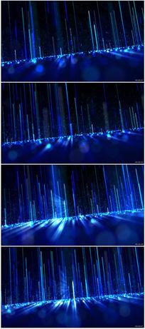 绚丽蓝色炫光光晕粒子动态背景视频