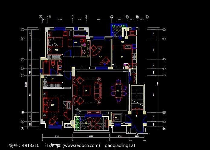 中空别墅平面规划设计图纸