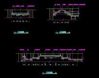 中式别墅顶面装修吊顶剖面图 CAD