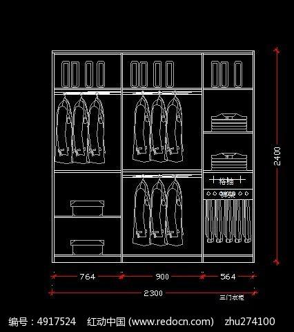 2.3*2.4米宽衣柜设计农村别墅图纸三层图纸米10设计x10图片
