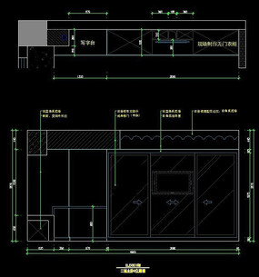 别墅二楼主卧室衣柜设计图