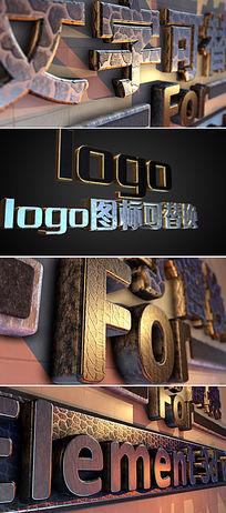 多款立体金属质感logo或文字展示ae片头模板