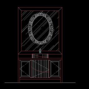 古典风机浴室柜立面图