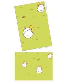 韩国可爱插画草地翻滚兔子笔记本封面