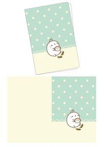 韩国可爱插画兔子的下午茶时间笔记本封面
