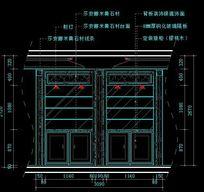 简欧风格餐厅酒柜装饰柜内部结构图