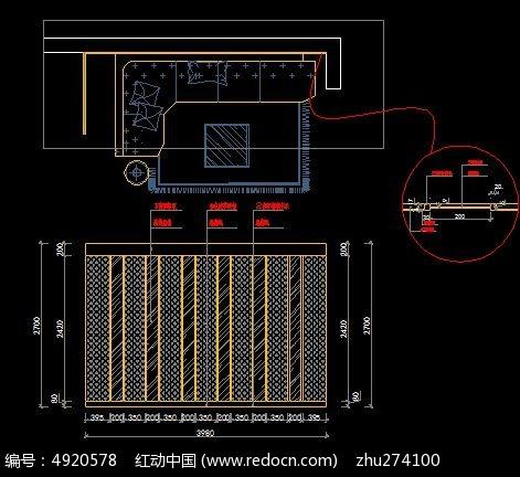 精装插件造型图纸立面图_CAD客厅图片素材cad图纸对比沙发2014图片