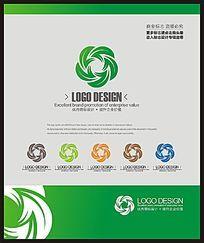 绿色环保节能企业标志设计 CDR