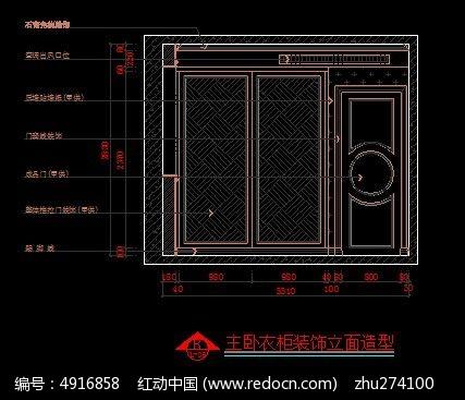 美式主图纸图片相切外立面图_CAD卧室衣柜素cad装饰三圆图片