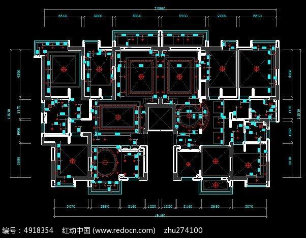 平层造型顶面天下户型设计施工天花图_CAD图凯别墅茵图君临别墅c尺寸图片