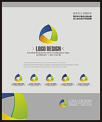 商业服务培训团队标志设计 CDR