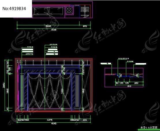 田园欧式风机卧室床头背景造型设计图