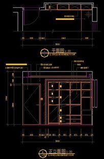 现代风格卧室墙面柜子内部结构图