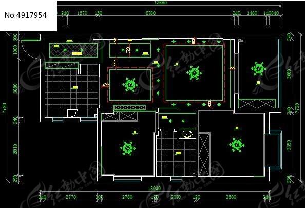 小户型 顶棚 天花 设计 图 CAD 图纸图片素材
