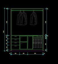 鞋柜衣柜内部结构设计图纸