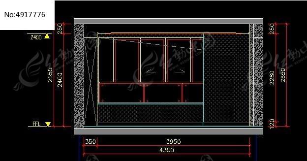 新古典风格卧室衣柜外立面图