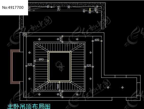 新古典风格主图纸画图布置图_CAD卧室图片素机械的吊顶纸软件图片