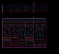 衣帽间实木衣柜内部结构图