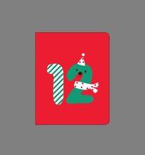 韩国趣味创意数字12本册封面 CDR
