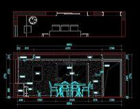 简欧风格餐厅背景墙立面设计图