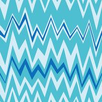 蓝白线条色彩构成纹样