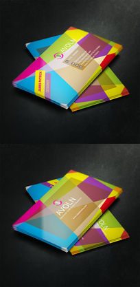 色块房地产液态商业名片设计 EPS