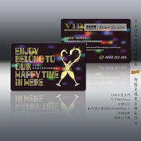 时尚酒吧VIP卡设计模板