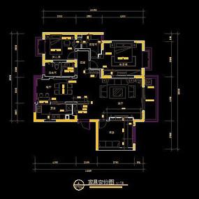 现代风格家具定位图