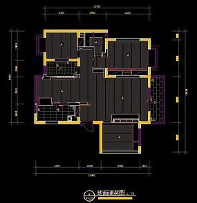 现代装修风格地面铺装设计图