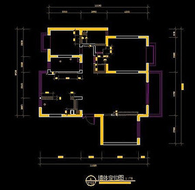 现代装修风格墙体定位图