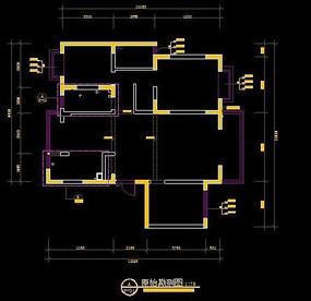 现代装修户型原始结构图