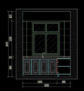 样板间厨房柜体设计图