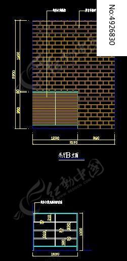 中式别墅外厅立面及鞋柜立面图