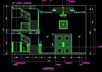 中式跳高别墅楼梯立面图 CAD