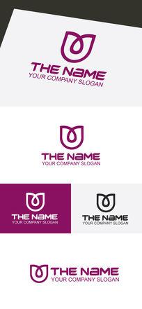 抽象玫瑰花logo设计