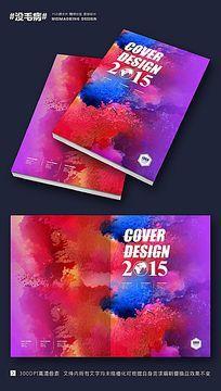 创意水彩墨迹画册封面设计