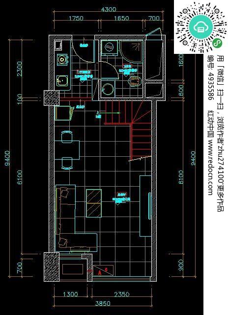 单身公寓一层平面布置图图片